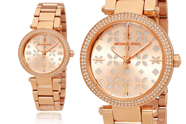 Ladies' Michael Kors MK6470 Rose Gold-Tone Watch