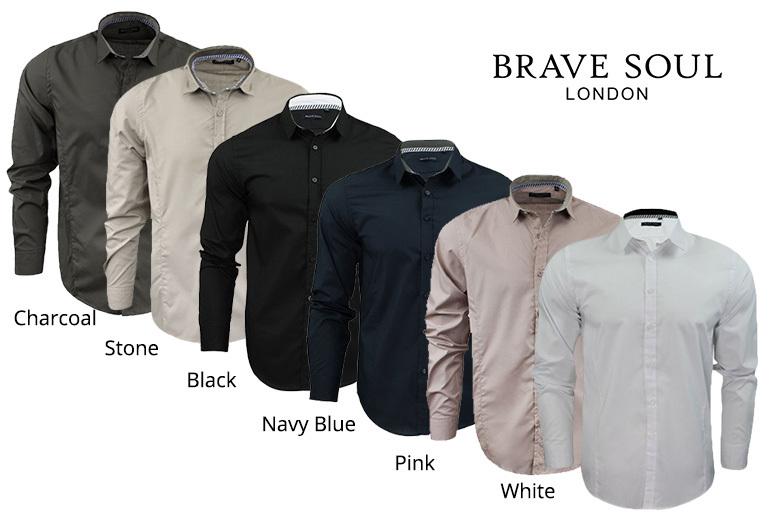 Men's Slim-Fit Shirt – 6 Colours & 4 Sizes! for £9.99