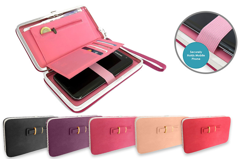 All-In-One Phone Holding Clutch Purse – 5 Colours! for £6.99