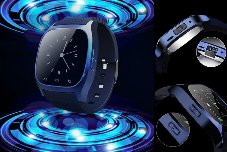 RM26 Android Smart Watch – Black or Blue! for £14.99