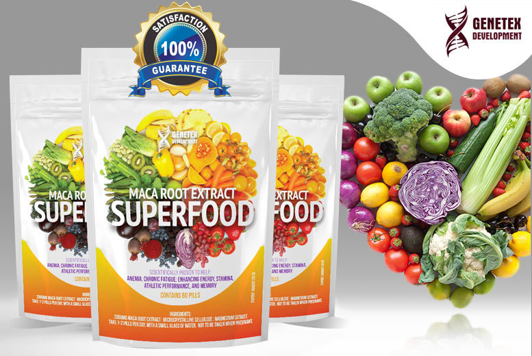Maca Extract 'Superfood' Supplement – 2, 4 or 6mth Supply! from £7.00