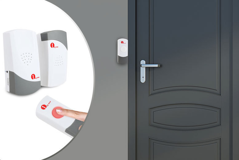 £9.99 (from 1byone) for a wireless doorbell set with one receiver and two push buttons, or £12.99 for two receivers and one push button - save up to 63%