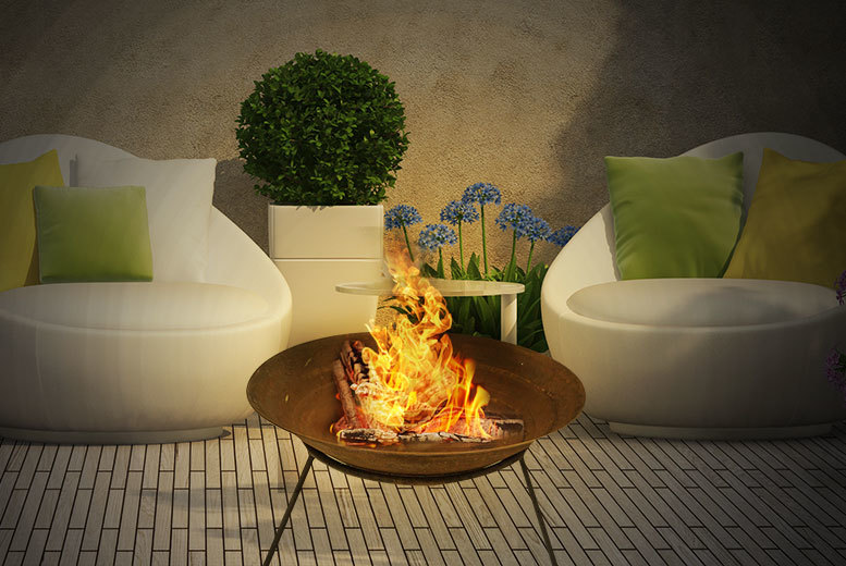 Extra Large Rustic Garden Fire Pit