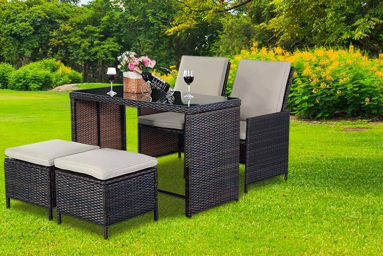 5pc Rattan Patio Furniture Set