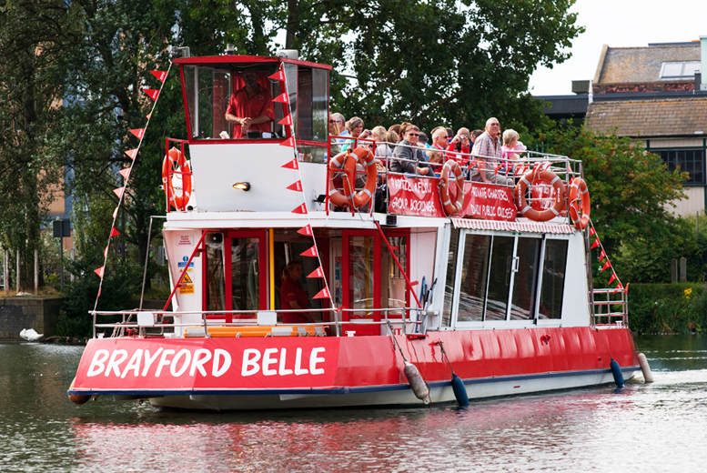£4.50 for a boat trip along the waterways of Lincoln, £7 for two people or £10 for a family of four on the Brayford Belle - save up to 36%