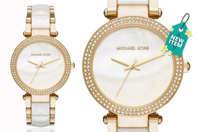 Ladies' Michael Kors MK6400 Parker Gold-Tone Watch