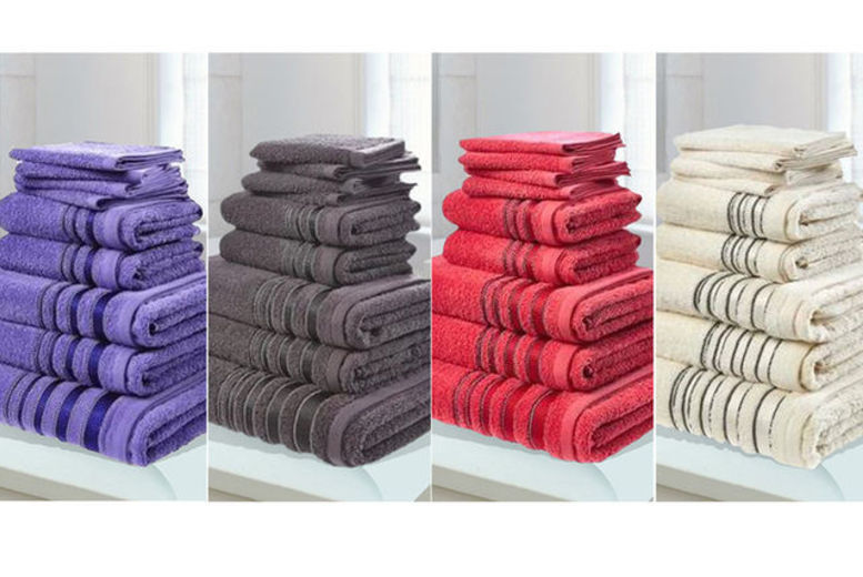 Clearance 500gsm Egyptian Cotton Towel Bundle – 7 Colours! for £12.00