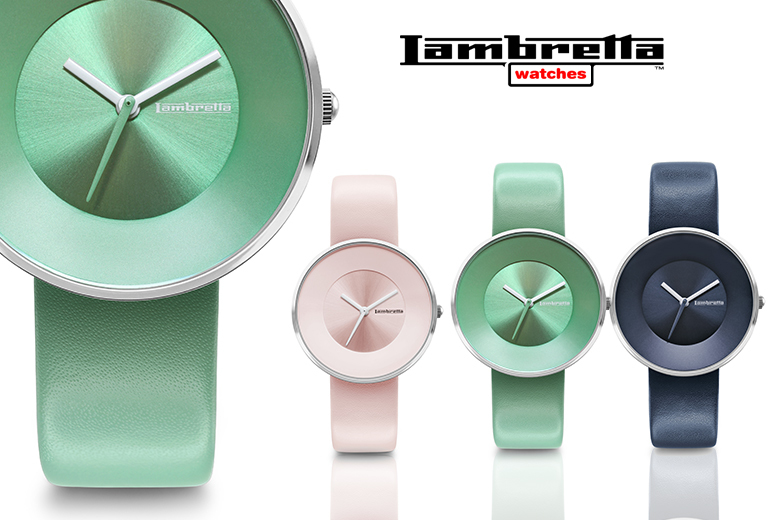 Leather Lambretta Cielo 34 Watch - Mentha, Pink or Navy!