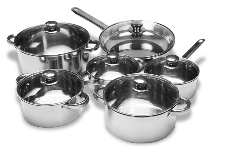 12pc Stainless Steel Pan Set for £23.99