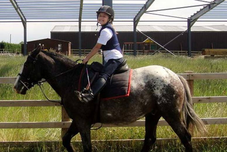 £9 for a 30-minute pony riding lesson for ages 3-6 with a soft drink, or £13 for a one-hour lesson for ages 7+ at Mill House Riding Centre - save up to 40%