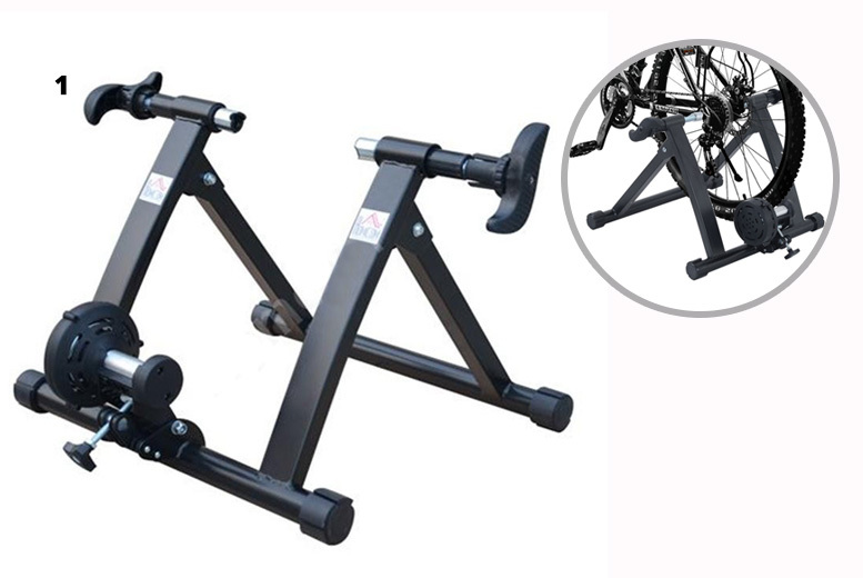 Foldable Indoor Bike Turbo Trainer – Standard or Cyclone System! from £36.00