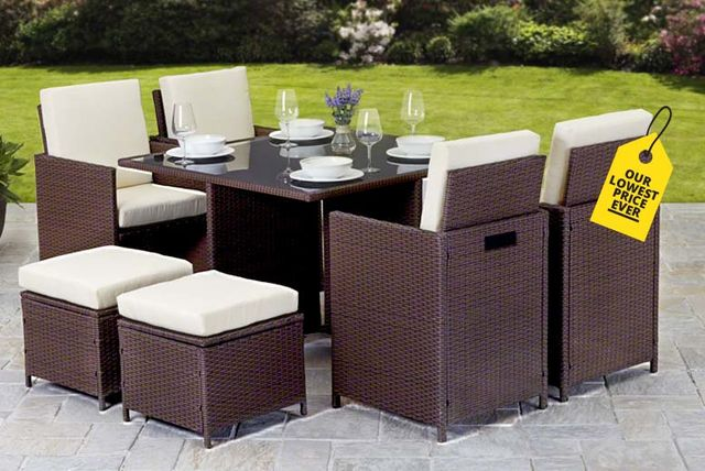 Giomani Designs   Napoli 9pc Rattan Cube Set  ...