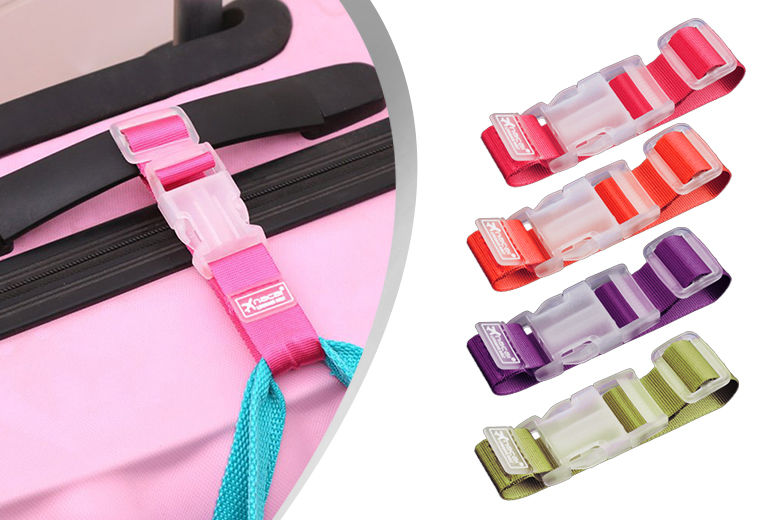 Bright Adjustable Baggage Strap – 4 Colours! from £1.99