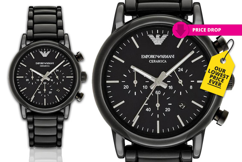 Men's Emporio Armani AR1507 Black Ceramic Watch