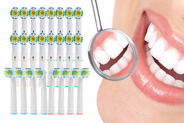 24 Oral B-Compatible 3D Whitening Toothbrush Heads for £12.00