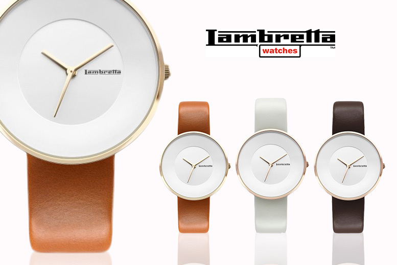 Lambretta Cielo 34 Leather Watch - Cognac, Ivory or Moro!