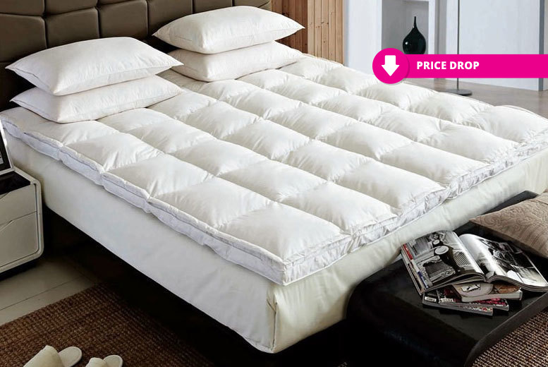 Luxury Extra-Thick Duck Feather & Down Mattress Topper from £18.99