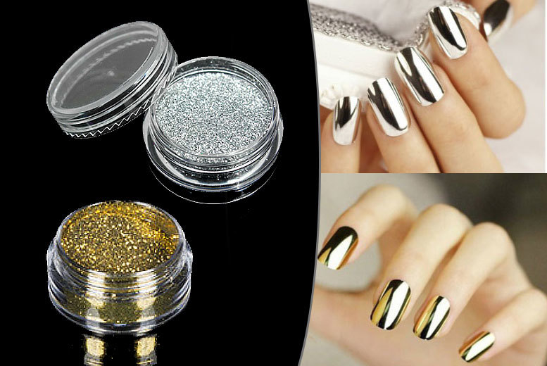 £4 instead of £19.99 (from Boni Caro) for gold or silver Magic Mirror nail powder, or £7 for both - glam up and save up to 80%
