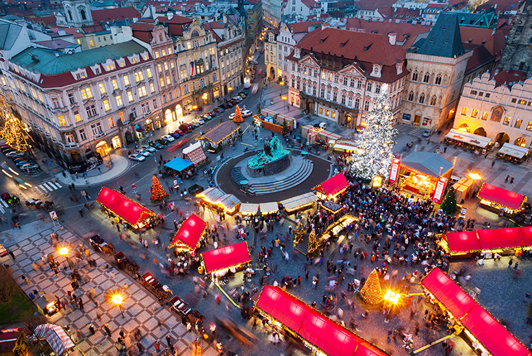 From £79pp (from Tour Center) for a two-night 4* Prague break including flights, from £149 for a Christmas market break - save up to 42%