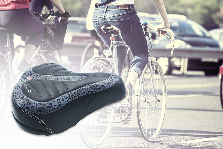 Extra-Wide Comfort Bicycle Seat