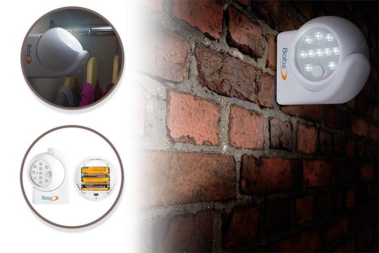 1 or 2 10-LED Motion-Sensor Security Lights from £8.99