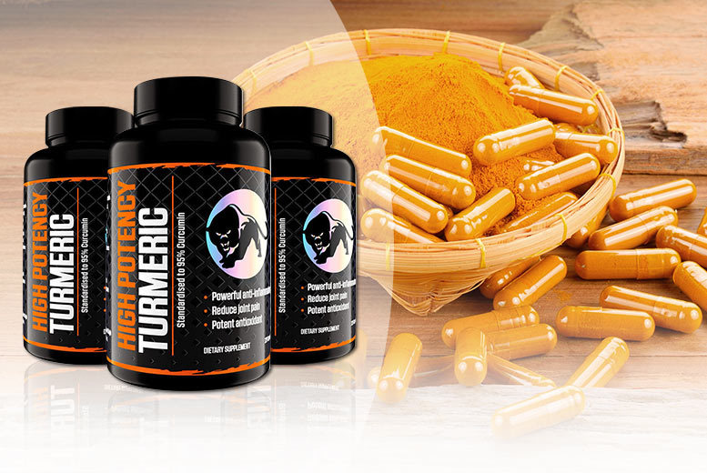 4, 8 or 12-Mnth Supply* Turmeric Curcumin Capsules from £8.00