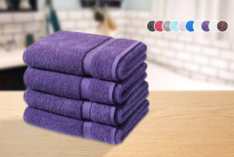 £16.99 instead of £79.99 (from Groundlevel.co.uk) for four super soft Egyptian cotton bath sheets - choose from ten colours and save 79%