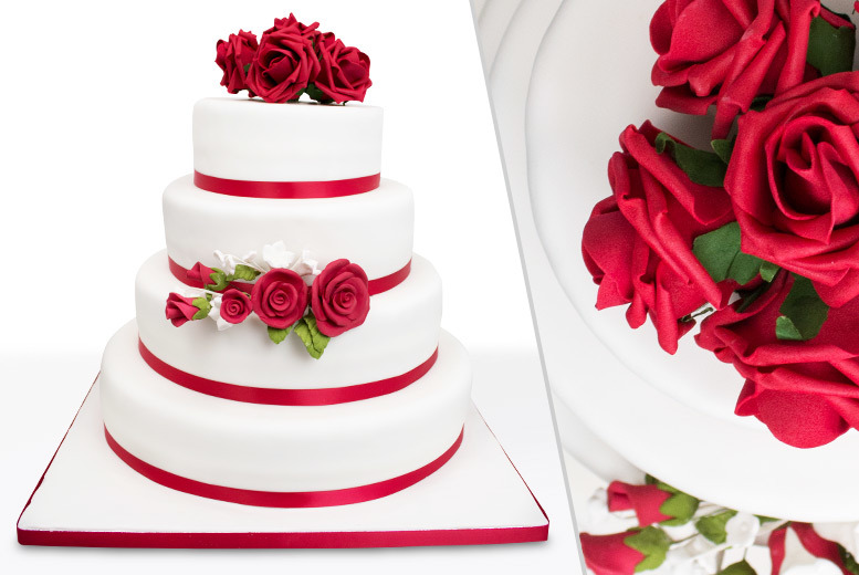 £89 instead of £190 for a three-tier bespoke wedding cake, £124 for four tiers from Precise Cakes, London - save up to 53% + FREE DELIVERY!