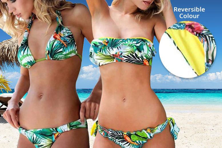 Tropicana Print Reversible Bikini – 2 Styles! for £14.00