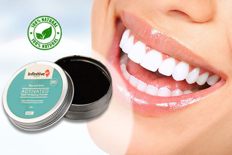 50g Rise & Shine Teeth Whitening Charcoal & Coconut Shell Powder for £4.00
