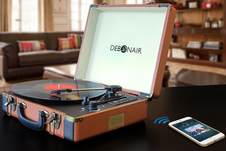 Debonair Retro Record Player – 6 Colours & Bluetooth Option! from £29.00