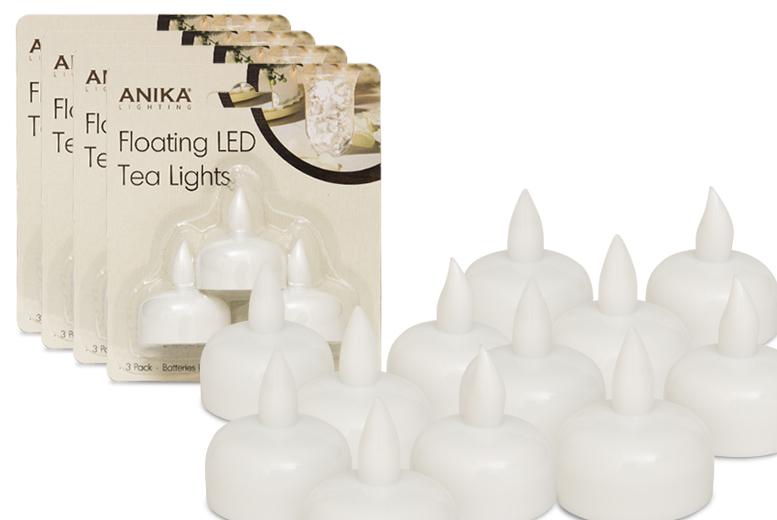 12 Floating LED Tealights for £2.99