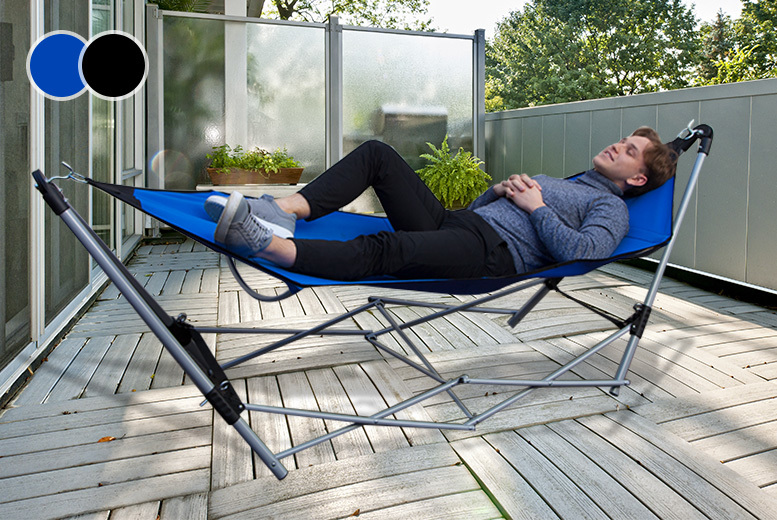Pop Up Folding Portable Hammock - 2 Colours!