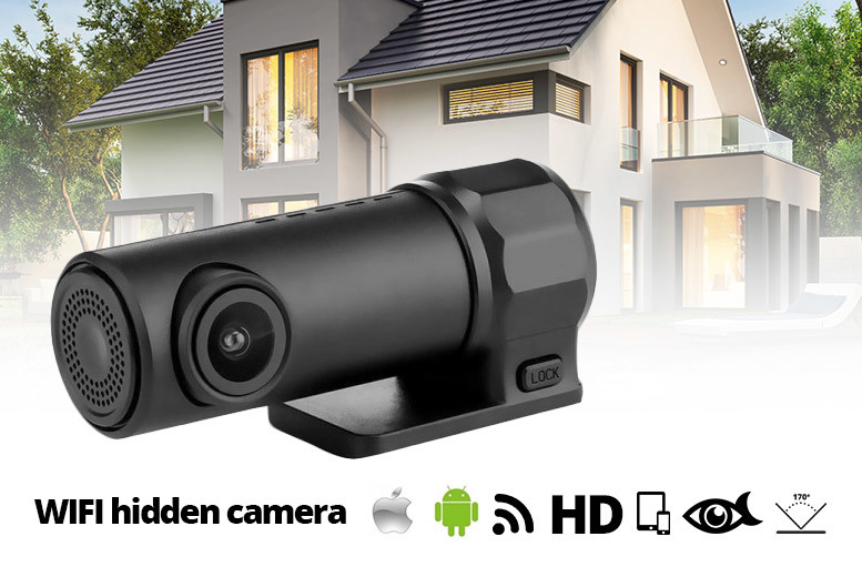HD Discreet Wireless App-Controlled 360° Dash Cam & Camcorder for £19.00
