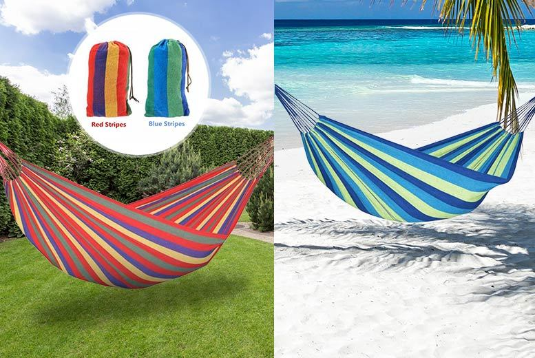Outdoor Portable Double Hammock – 2 Colours! for £8.99