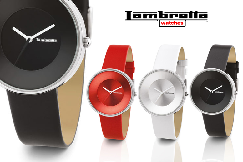 Lambretta Cielo 37 Leather Watch - Black, Red or White!