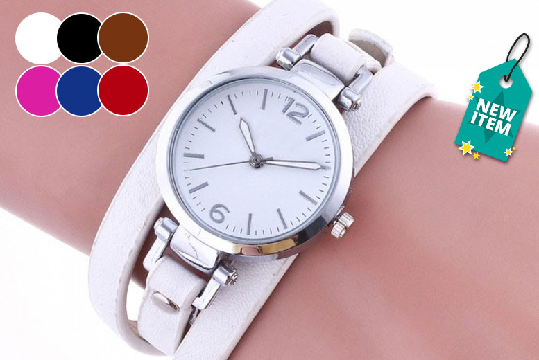 Ladies' 'Edith' Wrap Watch - 6 Colours!