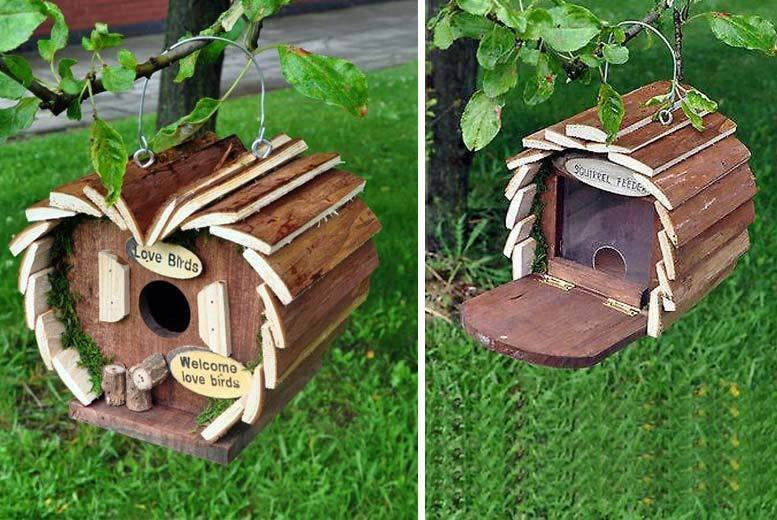Kingfisher Wooden Bird or Squirrel Hotel for £6.99