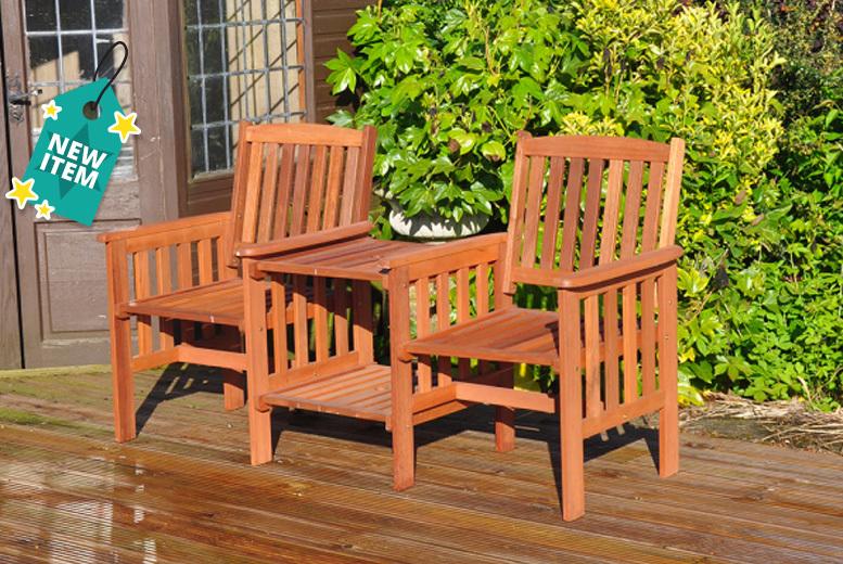 2-Seater Hardwood Garden Love Chair