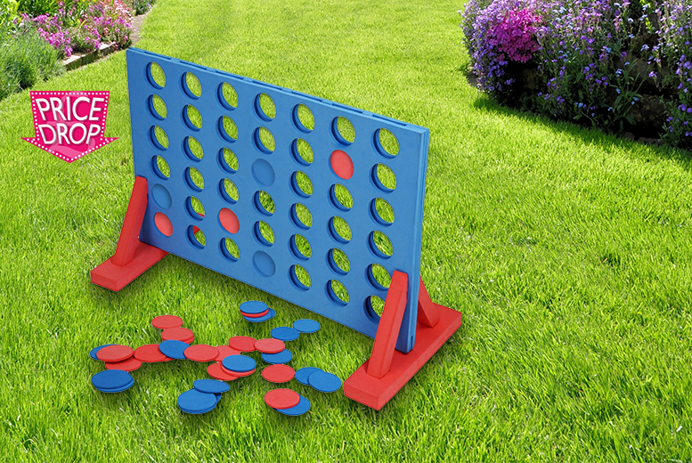 £12 instead of £34.99 (from Estore London) for a giant foam outdoor connect-4 - play the game and save 66%