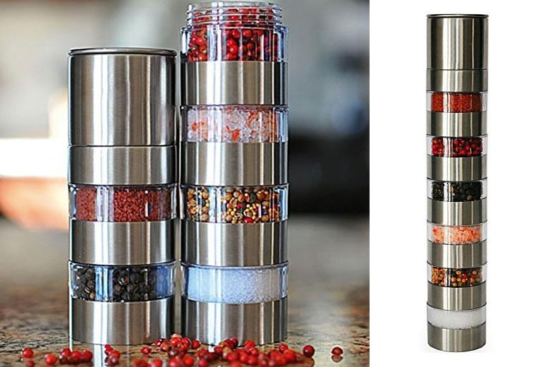 6-Jar Salt & Pepper Shaker Set for £6.99