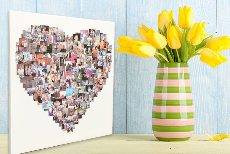 Personalised Photo Collage for up to 150 Images – 3 Shapes & 4 Sizes! from £9.00