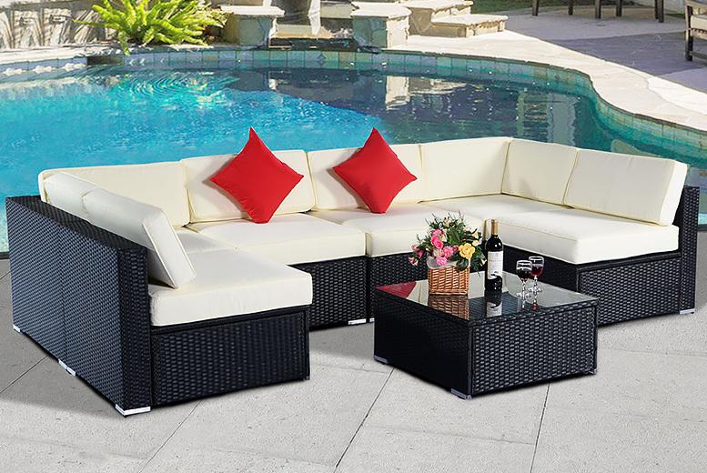 7pc Rattan Sofa Set