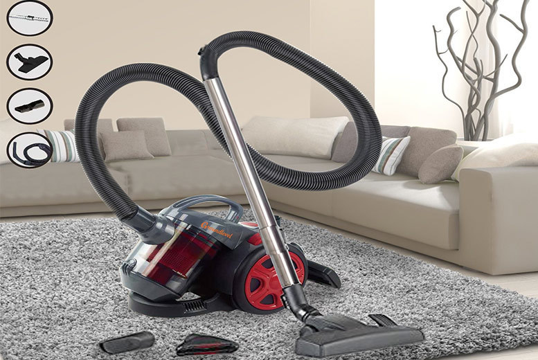 700W Cyclonic Bagless Vacuum with Telescopic Handle