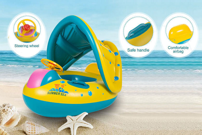 Inflatable Baby Float Boat with Sunshade for £7.99