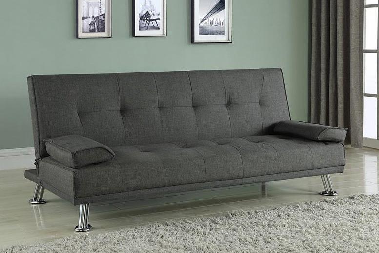 Logan Grey Fabric Sofa Bed for £199.00