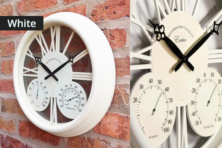 Traditional Garden Clock – 3 Designs! from £9.99