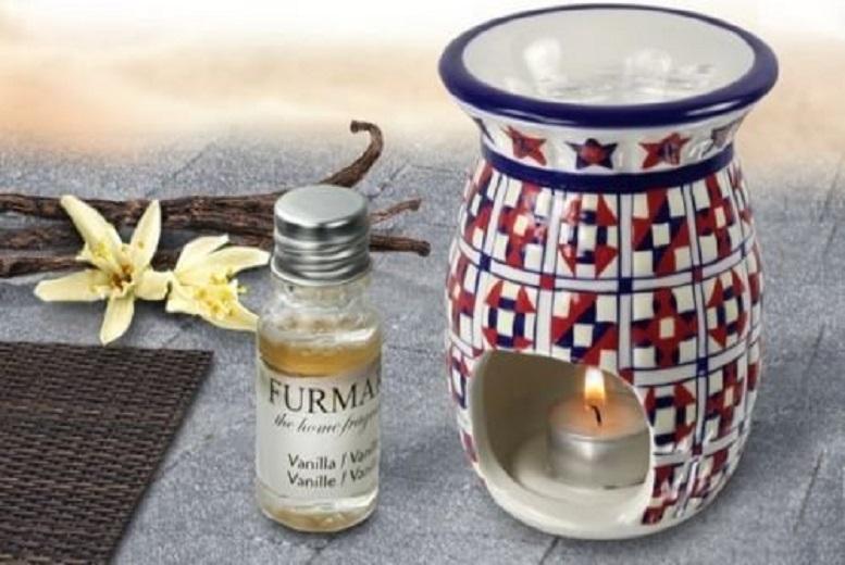 Moroccan Deco Ceramic Oil Burner – 3 Melts & 5 Fragrances! for £7.49