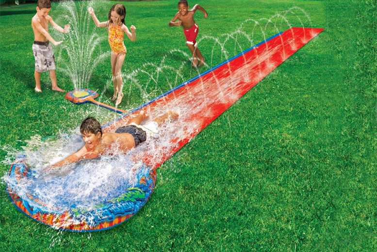 2-in-1 16ft Water Slide & Vertical Sprinkler for £9.99