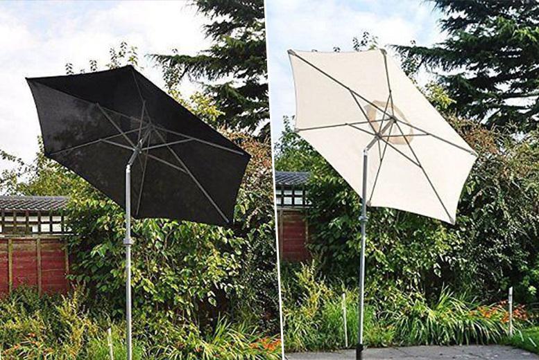 2m Aluminium Garden Patio Parasol Umbrella – 2 Colours! for £19.99